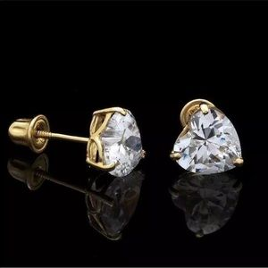 Jewelry - .50Ct Created Diamond 14K Yellow Gold Earrings